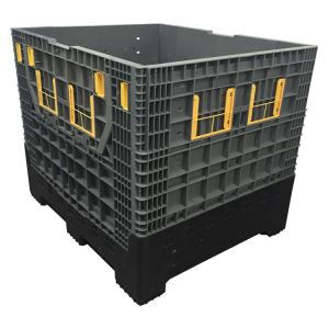 Whloesale 4- way entry heavy duty industry solid large collapsible plastic pallet box